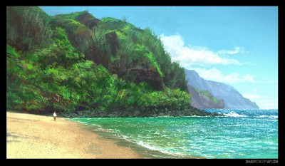 shaddy concept art kauai napali coast