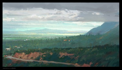 Shaddy Concept Art, Pasadena, Digital Plein Air,