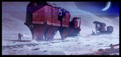 red engine train gallery show shaddy concept art moon train