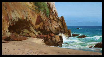 shaddy safadi, digital plein air, point dume, concept art