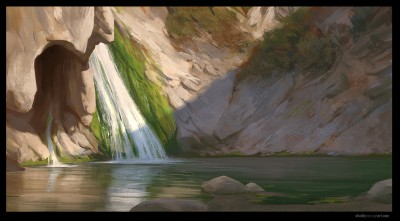 digital plein air, digital life painting, concept art, shaddy safadi, paradise falls