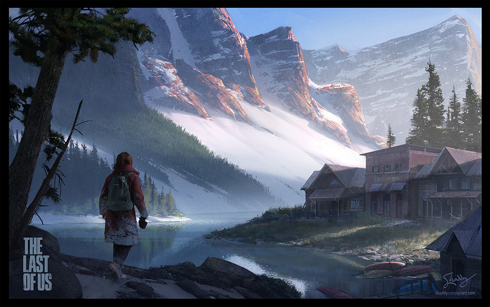 shaddy, shaddy safadi, last of us, the last of us, lakeside town, digital painting, concept art