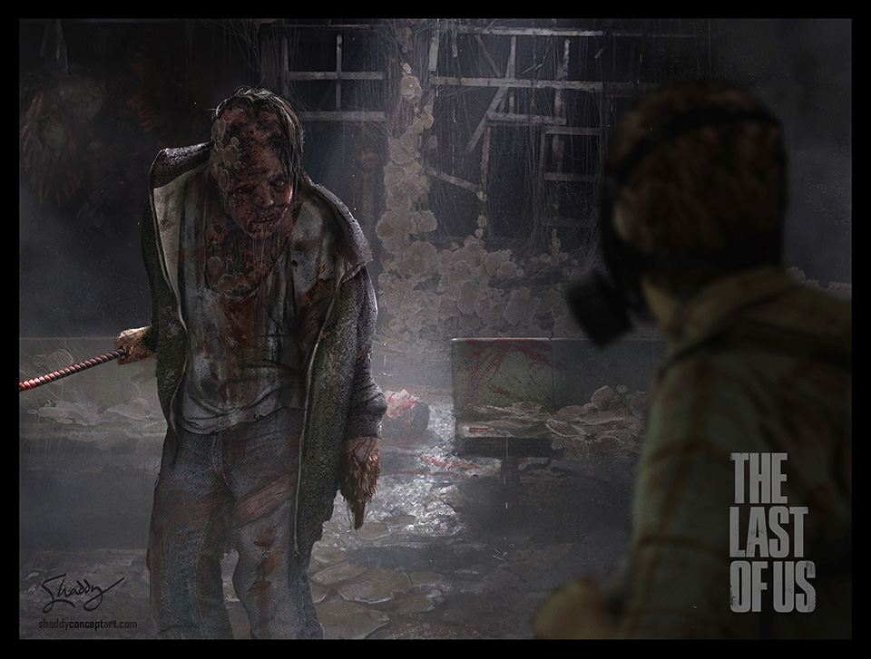 shaddy, concept art, shaddy safadi, last of us, the last of us, fungus zombie, zombie